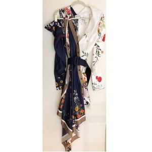 monse Dresses - Monse Silk Scarf Dress Football floral print 6